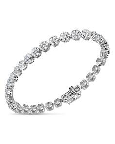 Bloomingdale's - Diamond Flower Tennis Bracelet in 14K White Gold, 5.0 ct. t.w. - 100% Exclusive