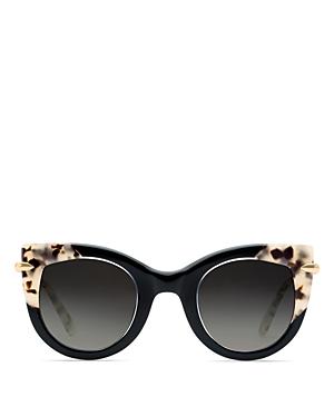 Krewe Sunglasses WOMEN'S LAVEAU 24K GRADIENT CAT EYE SUNGLASSES, 48MM