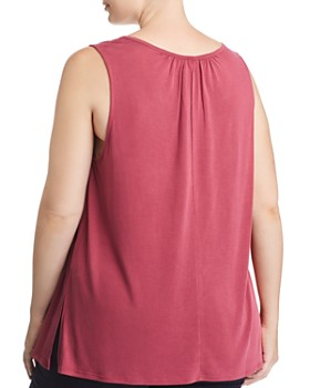 Lucky Brand Plus - Pleated Cutout Tank