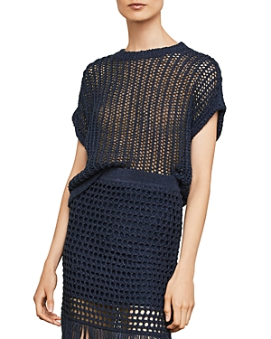 Bcbgmaxazria Open-Knit Tie-Back Sweater