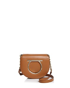 Salvatore Ferragamo - Vela Medium Leather Saddle Bag