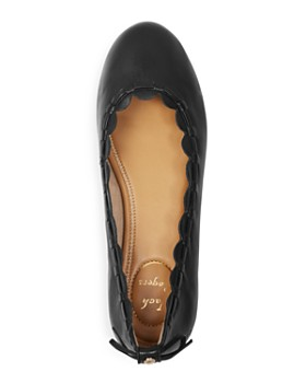 Jack Rogers - Women's Lucie II Scalloped Leather Ballet Flats