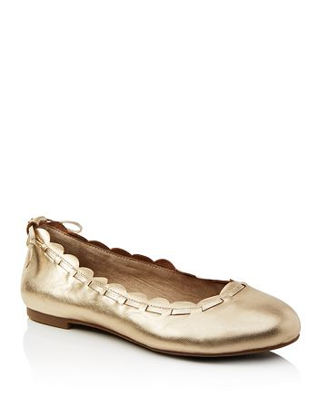 adfb7c7cc5033 Jack Rogers Women's Lucie Scalloped Leather Ballet Flats ...