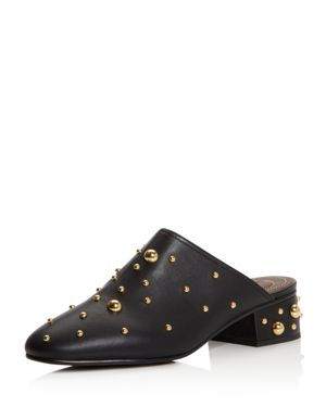 SEE BY CHLOE WOMEN'S STUDDED LEATHER MULES