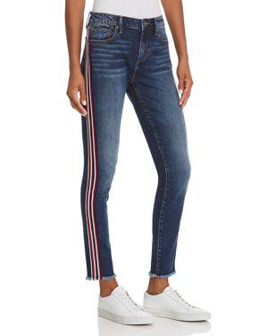 Aqua Side-Stripe Skinny Jeans in Medium Wash - 100% Exclusive 3030963