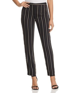 T TAHARI IVANA STRIPED PANTS