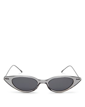 Illesteva - Women's Marianne Slim Cat Eye Sunglasses, 48mm
