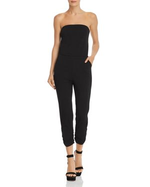 STRAPLESS RUCHED JUMPSUIT - 100% EXCLUSIVE