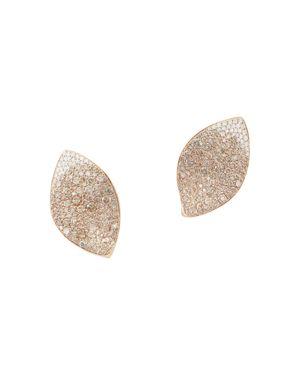 PASQUALE BRUNI 18K ROSE GOLD GIARDINI SEGRETI CHAMPAGNE DIAMOND & DIAMOND FLORAL EARRINGS
