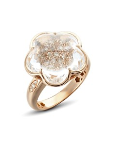 Pasquale Bruni 18K Rose Gold Bon Ton Champagne Diamond & Rock Crystal Floral Ring - Bloomingdale's_0