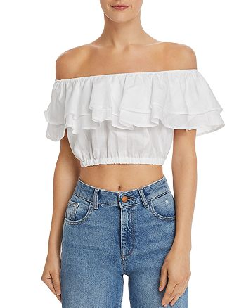 Show Me Your MuMu - Kaya Off-the-Shoulder Crop Top