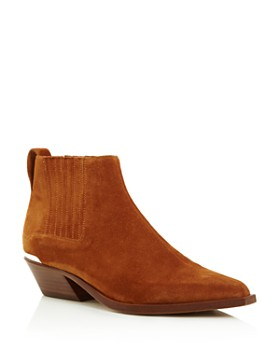 rag & bone - Women's Westin Pointed-Toe Suede Low-Heel Booties