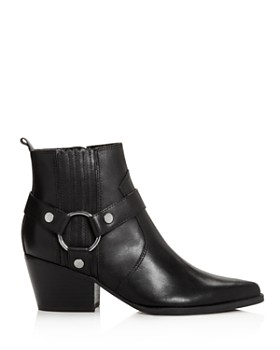 Marc Fisher LTD. - Women's Halie Pointed Toe Leather Mid-Heel Booties