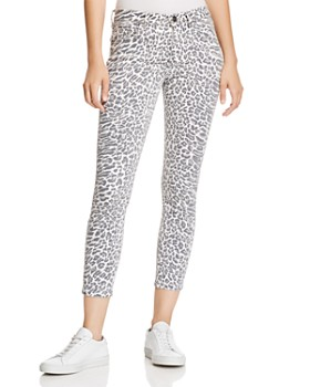 Current/Elliott -  The Stiletto Cropped Skinny Jeans in Warped Leopard