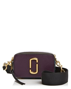 Snapshot Buttons Crossbody Camera Bag, Grape Multi