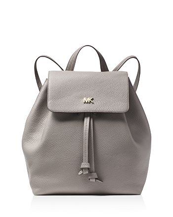 46cdf57e36c0 MICHAEL Michael Kors Junie Medium Leather Flap Backpack | Bloomingdale's