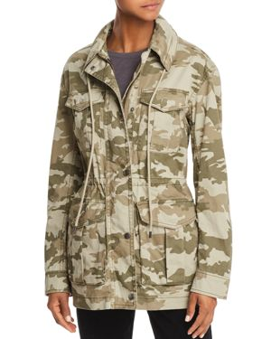 Field Camo Zip-Front Utility Jacket With Stowaway Hood, Army Camo