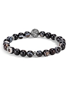 JOHN HARDY - Sterling Silver Classic Chain Banded Agate Bead Bracelet