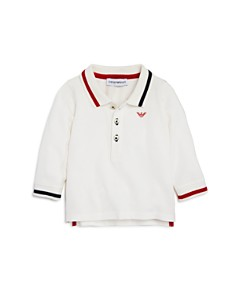Armani Junior - Boys' Long-Sleeve Contrast-Striped Polo - Baby