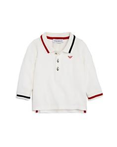 Armani Junior - Boys' Long-Sleeve Contrast-Striped Polo - Baby