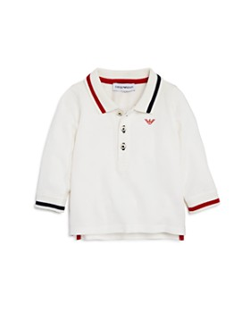 Armani - Boys' Long-Sleeve Contrast-Striped Polo - Baby
