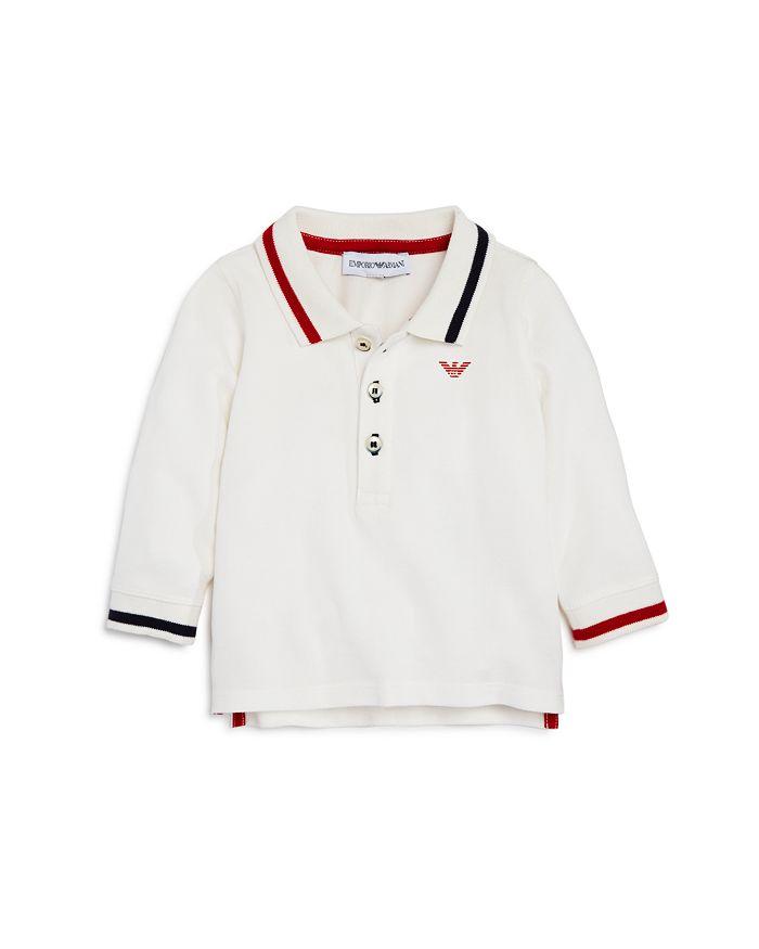 Armani - Boys' Long-Sleeve Contrast-Striped Polo - Baby