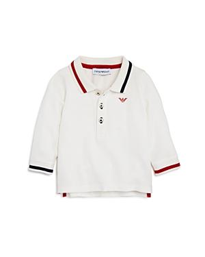 Armani Junior Boys' Long-Sleeve Contrast-Striped Polo - Baby