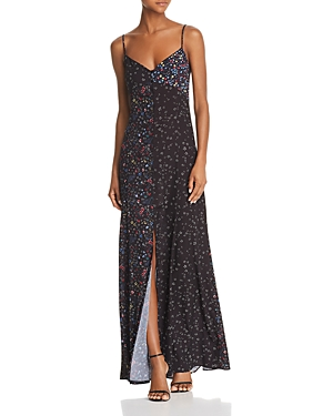 French Connection Aubine Floral Print Maxi Slip Dress