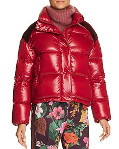 Moncler - Chouette Jacket, Turtleneck Sweater & Floral Print Trousers