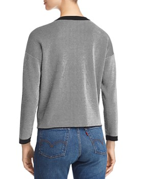 Eileen Fisher - Ribbed Striped Crewneck Sweater