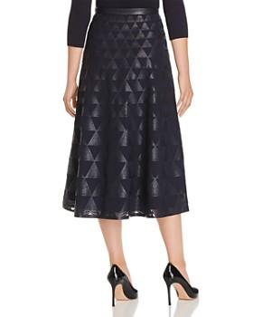 Lafayette 148 New York - Adriel Laser-Cut Faux Leather Midi Skirt