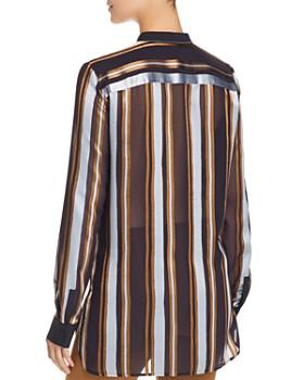Lafayette 148 New York - Brayden Sheer Striped Blouse