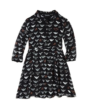 a57a173505d Armani - Girls  Logo-Print Chiffon Dress - Big Kid ...