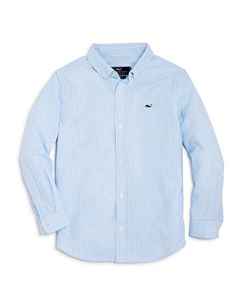 acb18001af4940 Vineyard Vines - Boys  Striped Oxford Whale Shirt - Little Kid
