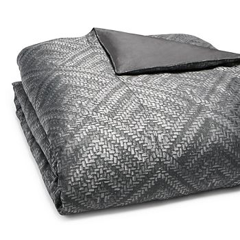 Hudson Park Collection - Woven Diamond Duvet Cover, King - 100% Exclusive