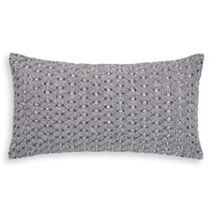 """Hudson Park Collection - Woven Diamond Embellished Decorative Pillow, 12"""" x 22"""" - 100% Exclusive"""