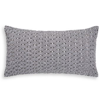 "Hudson Park Collection - Woven Diamond Embellished Decorative Pillow, 12"" x 22"" - 100% Exclusive"