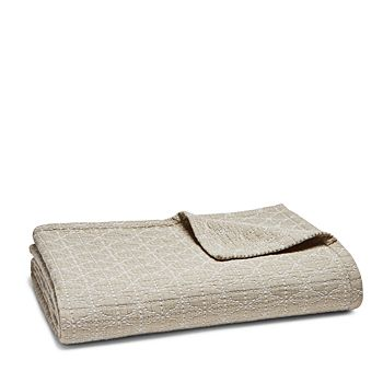 Hudson Park Collection - Seed Stitch Trellis Coverlet, King - 100% Exclusive