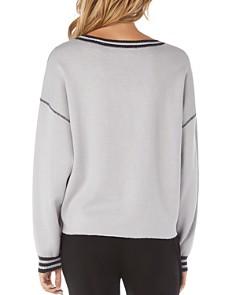 Michael Stars - Stripe-Trim Reversible Sweatshirt