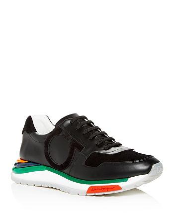 Salvatore Ferragamo - Men's Brooklyn Leather & Suede Lace Up Sneakers