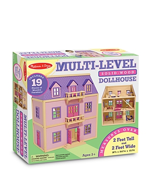 Melissa  Doug MultiLevel Wooden Dollhouse  Ages 3