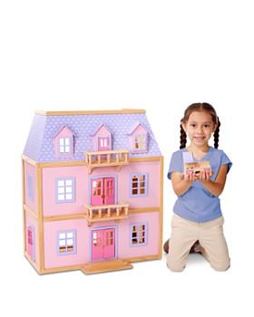 Melissa & Doug - Multi-Level Wooden Dollhouse - Ages 3+