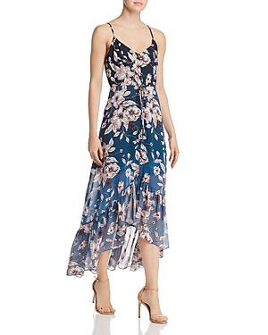 nanette Nanette Lepore Ombre Floral High/Low Dress