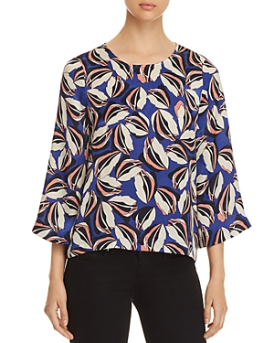 Vero Moda Raja Three-Qurter Sleeve Raja Printed Top