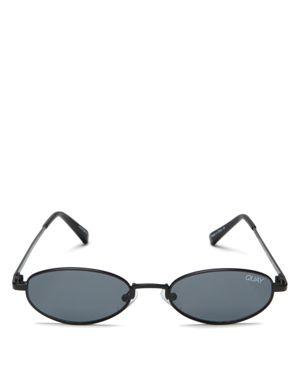 Quay Women's Showdown Slim Oval Sunglasses, 56.5mm
