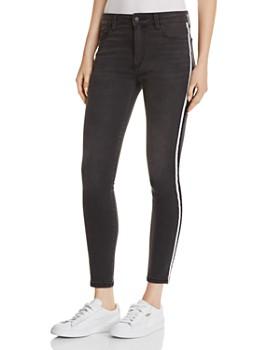 Joe's Jeans - Charlie Race-Stripe Ankle Skinny Jeans in Ashley