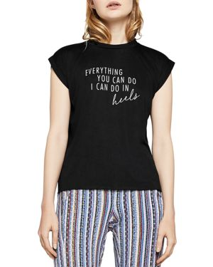 BCBGENERATION EVERYTHING YOU CAN DO MUSCLE TEE
