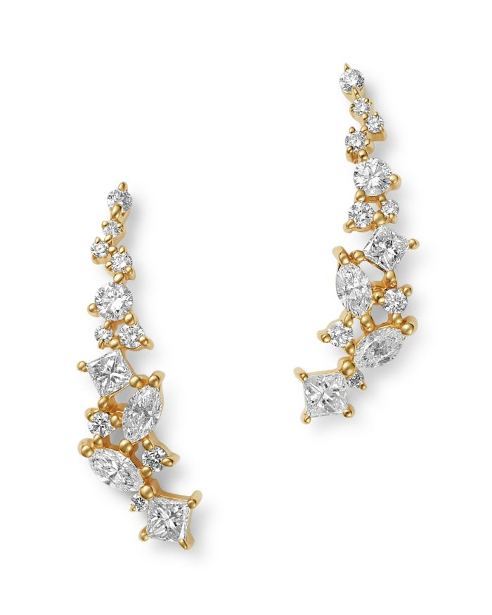 Bloomingdale's Diamond Climber Earrings in 14K Yellow Gold, 0.75 ct. t.w. - 100% Exclusive  | Bloomingdale's