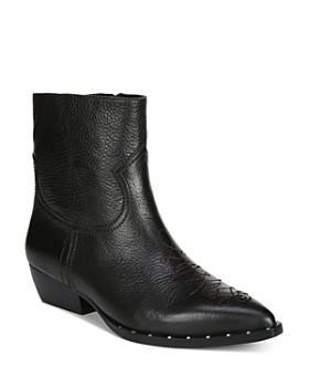 Sam Edelman - Women's Ava Leather Western Booties