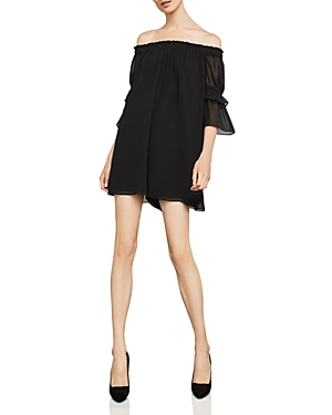 Bcbgmaxazria Shirred Off-The-Shoulder Romper